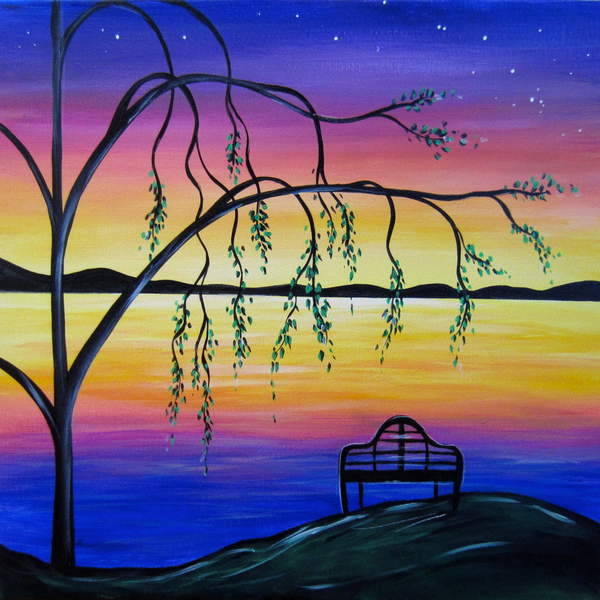 Canvas Painting Class on 10/15 at Muse Paintbar Ridge Hill
