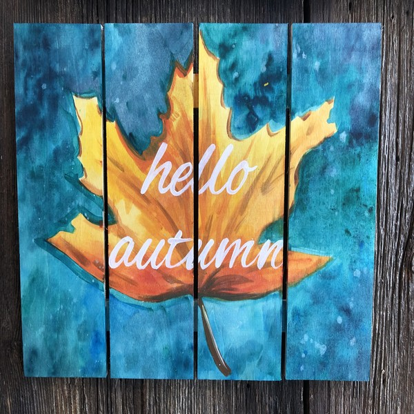 Wooden Sign Painting on 09/26 at Muse Paintbar Woodbridge