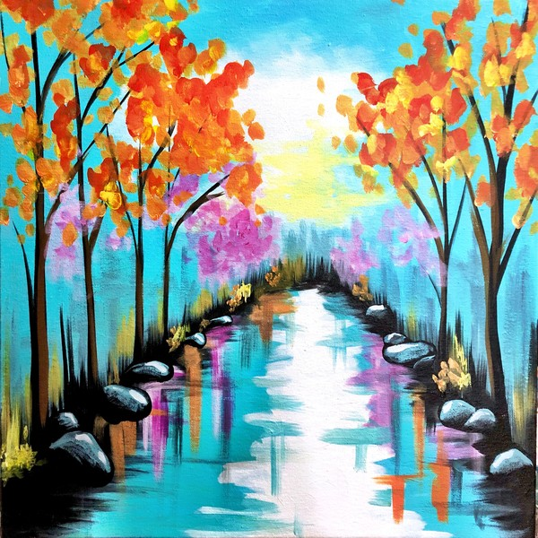 Canvas Painting Class on 10/03 at Muse Paintbar Ridge Hill