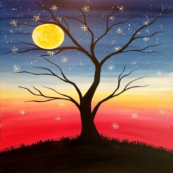Canvas Painting Class on 11/12 at Muse Paintbar Portland