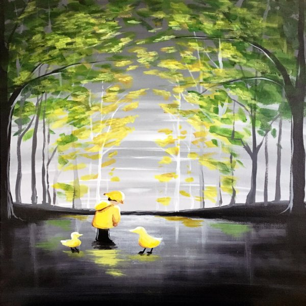 Canvas Painting Class on 03/10 at Muse Paintbar West Hartford