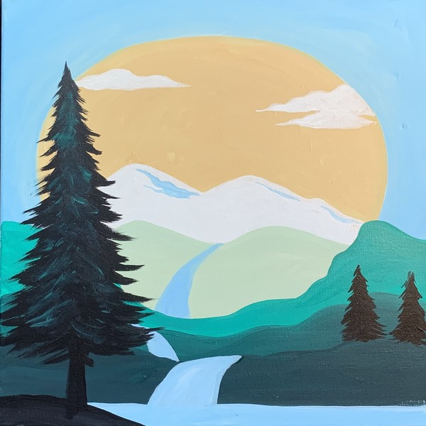 Canvas Painting Class on 08/08 at Muse Paintbar Patriot Place