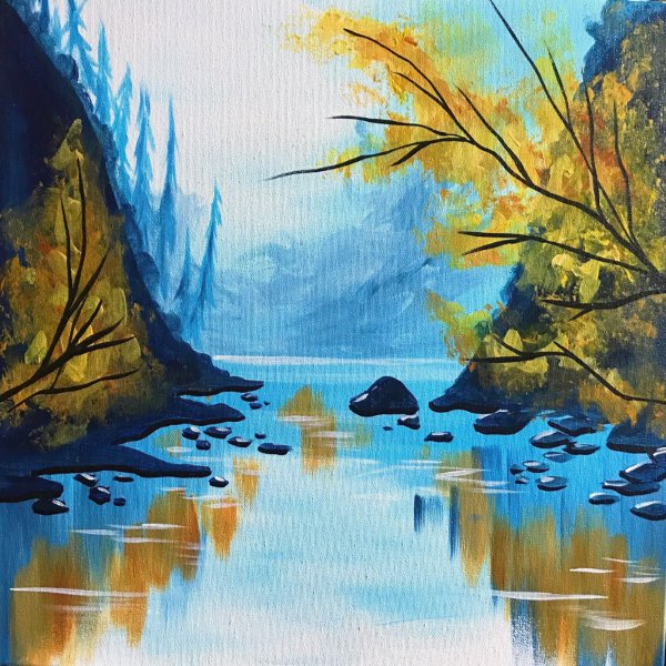 Canvas Painting Class on 10/24 at Muse Paintbar Fairfax (Mosaic)