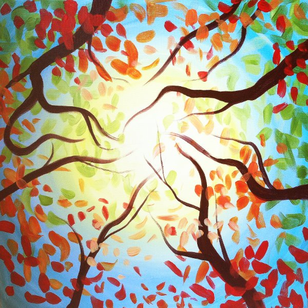 Canvas Painting Class on 10/18 at Muse Paintbar Woodbridge