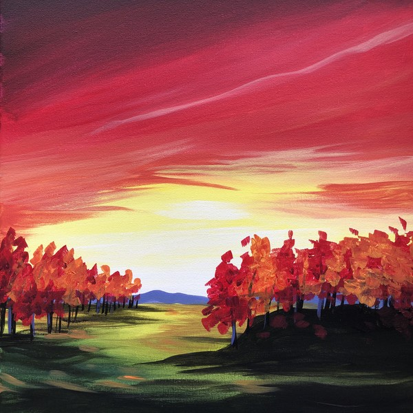 Canvas Painting Class on 11/29 at Muse Paintbar Ridge Hill
