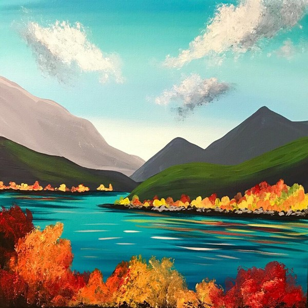 Canvas Painting Class on 10/25 at Muse Paintbar Ridge Hill
