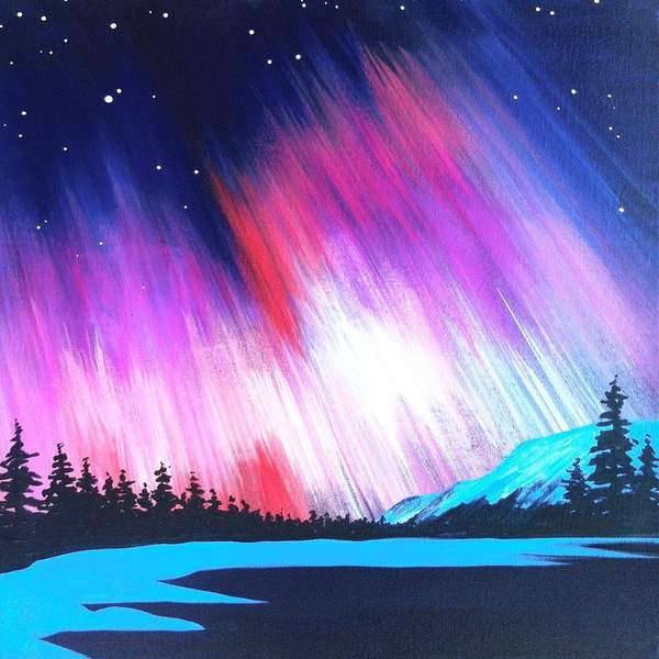 Canvas Painting Class on 04/13 at Muse Paintbar Lynnfield