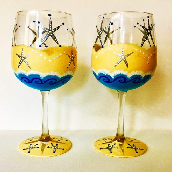 Glassware Painting Event on 06/17 at Muse Paintbar Lynnfield
