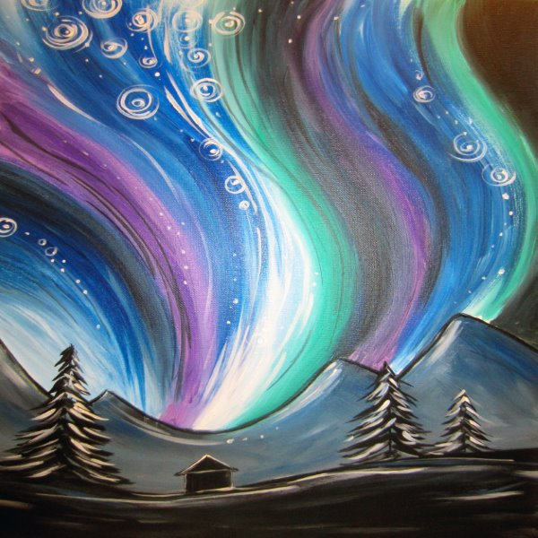 Canvas Painting Class on 01/28 at Muse Paintbar Gaithersburg