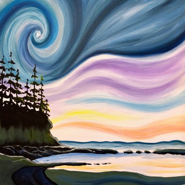 Canvas Painting Class on 03/09 at Muse Paintbar Fairfax (Mosaic)