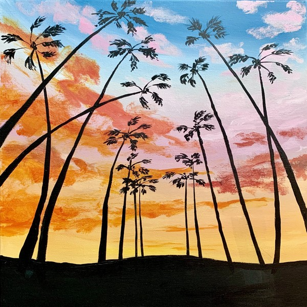 Canvas Painting Class on 08/09 at Muse Paintbar National Harbor