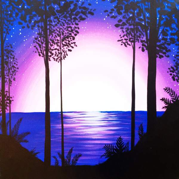 Canvas Painting Class on 08/24 at Muse Paintbar Great Neck