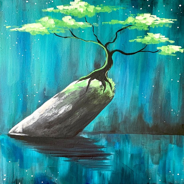 Canvas Painting Class on 09/26 at Muse Paintbar Ridge Hill