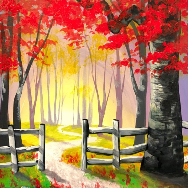 Canvas Painting Class on 10/22 at Muse Paintbar Portland