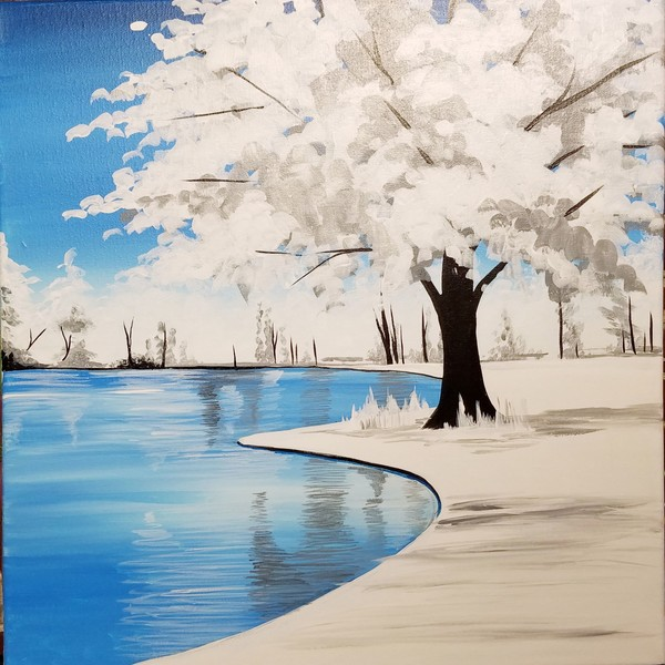 Canvas Painting Class on 02/19 at Muse Paintbar Woodbridge