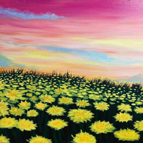 Canvas Painting Class on 08/27 at Muse Paintbar Patriot Place