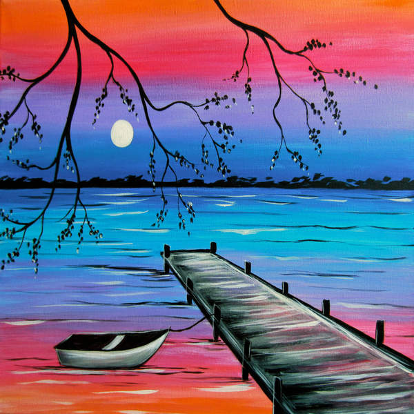 Canvas Painting Class on 06/04 at Muse Paintbar Glastonbury