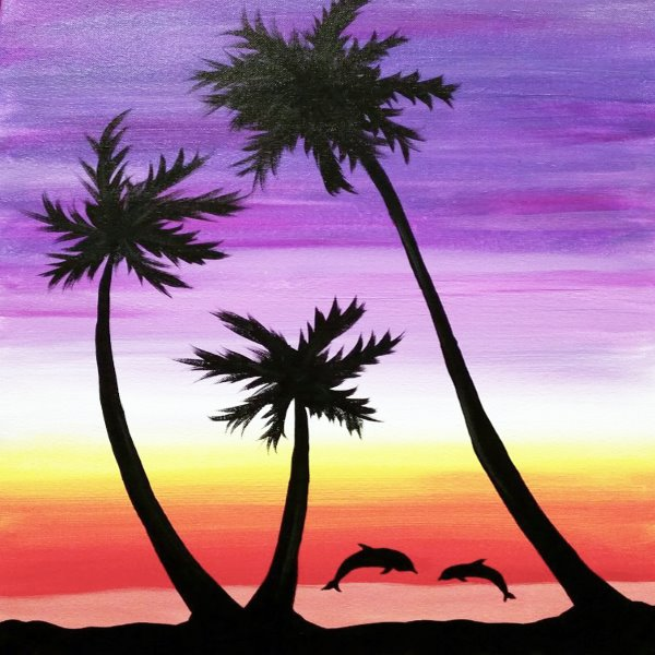 Canvas Painting Class on 07/22 at Muse Paintbar Portland
