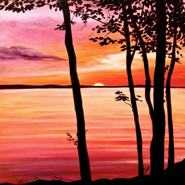 Canvas Painting Class on 07/07 at Muse Paintbar Lynnfield