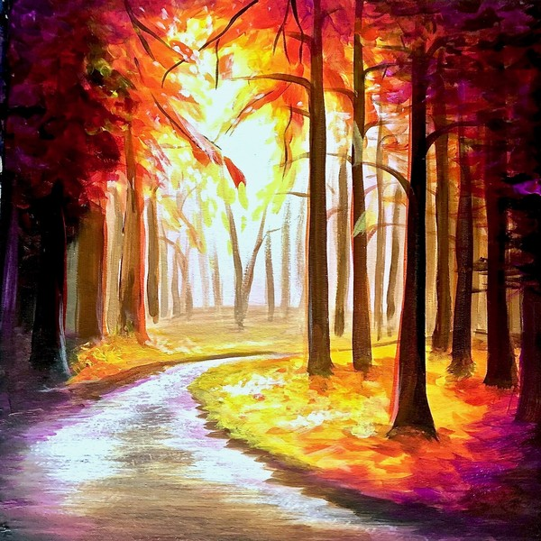 Canvas Painting Class on 11/14 at Muse Paintbar Fairfax (Mosaic)