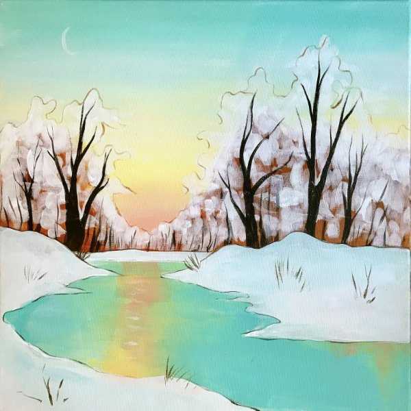 Canvas Painting Class on 01/24 at Muse Paintbar Gaithersburg