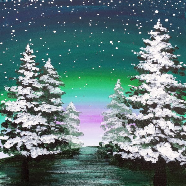 Canvas Painting Class on 12/26 at Muse Paintbar Woodbury
