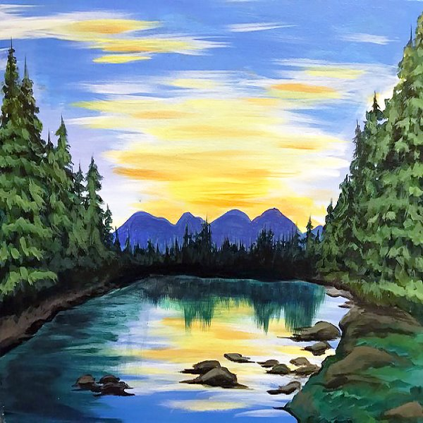 Canvas Painting Class on 04/26 at Muse Paintbar Portland
