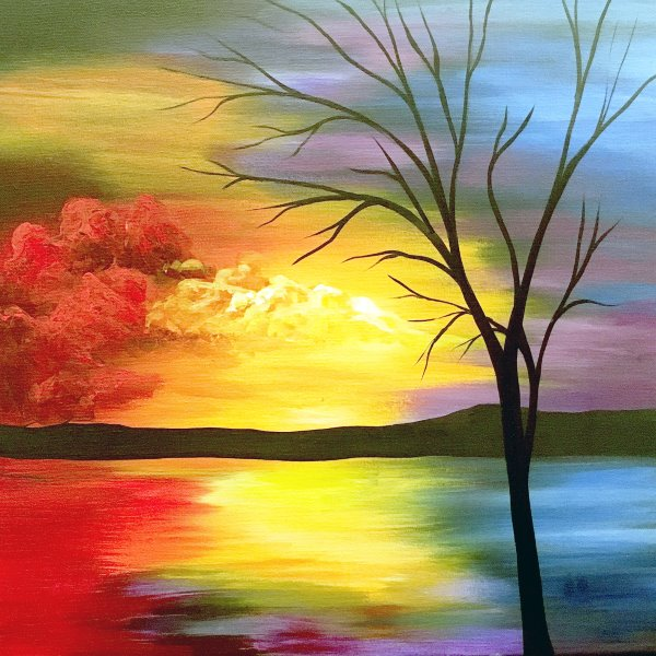 Canvas Painting Class on 09/19 at Muse Paintbar Port Jefferson