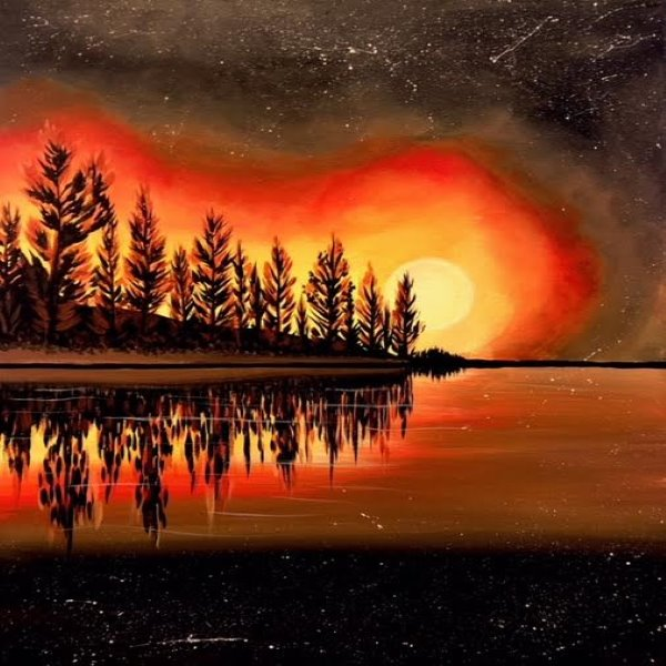 Canvas Painting Class on 10/27 at Muse Paintbar Portland