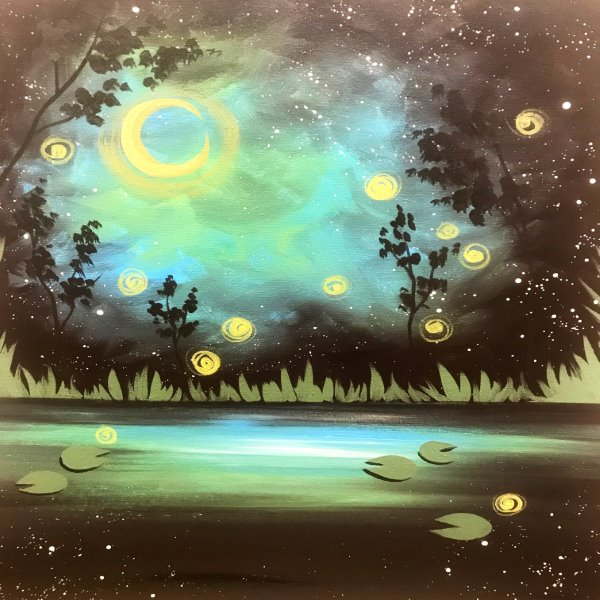 Canvas Painting Class on 03/27 at Muse Paintbar Woodbridge
