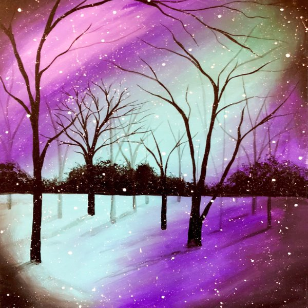 Canvas Painting Class on 02/29 at Muse Paintbar West Hartford