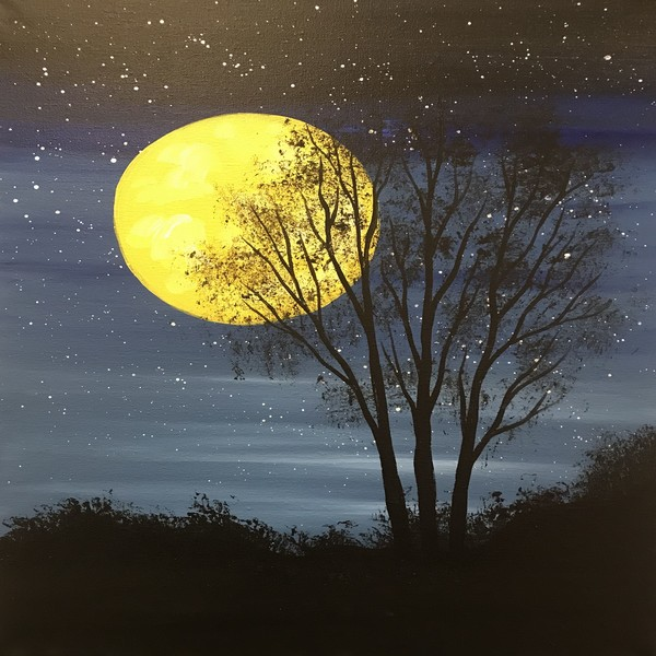 Canvas Painting Class on 02/02 at Muse Paintbar Norwalk