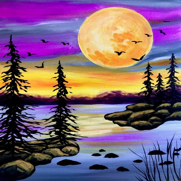 Canvas Painting Class on 11/17 at Muse Paintbar Manchester