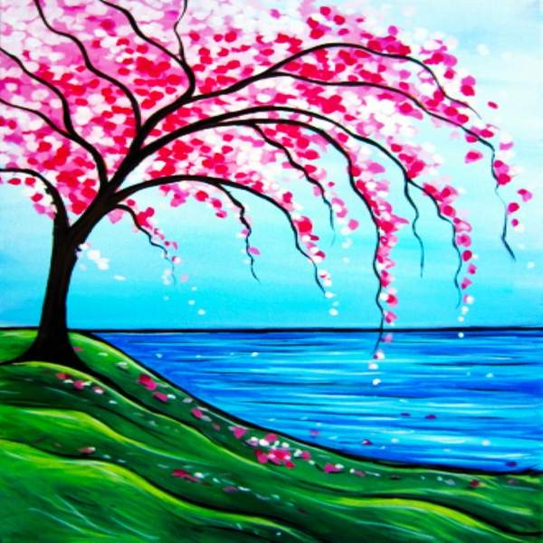 Canvas Painting Class on 03/02 at Muse Paintbar Virginia Beach