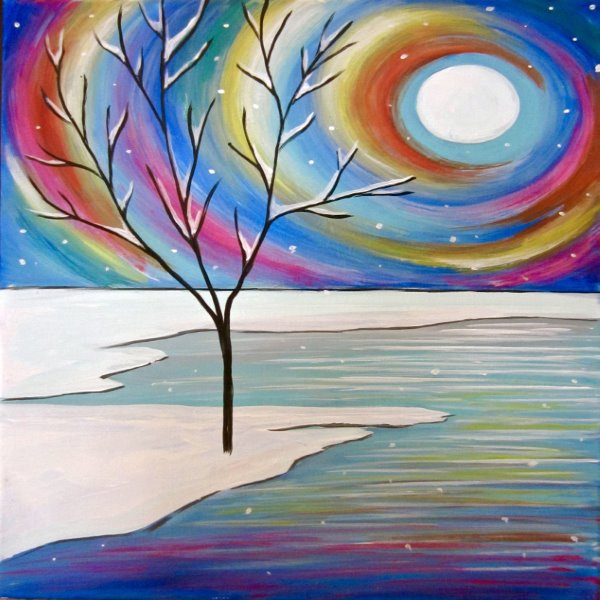 Canvas Painting Class on 12/18 at Muse Paintbar NYC - Tribeca