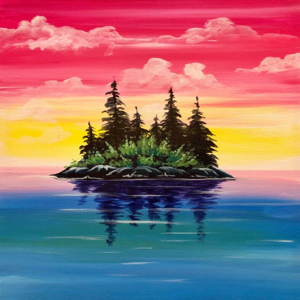 Canvas Painting Class on 03/22 at Muse Paintbar Legacy Place