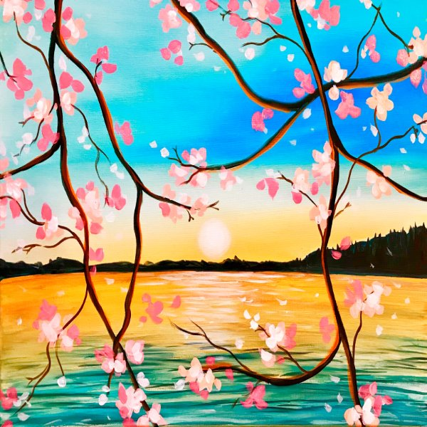 Canvas Painting Class on 04/21 at Muse Paintbar Ridge Hill