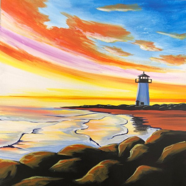 Paint Your Masterpiece on 04/12 at Muse Paintbar Hingham Shipyard