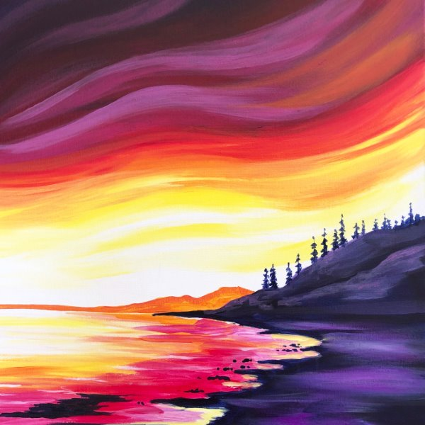 Canvas Painting Class on 04/18 at Muse Paintbar Port Jefferson