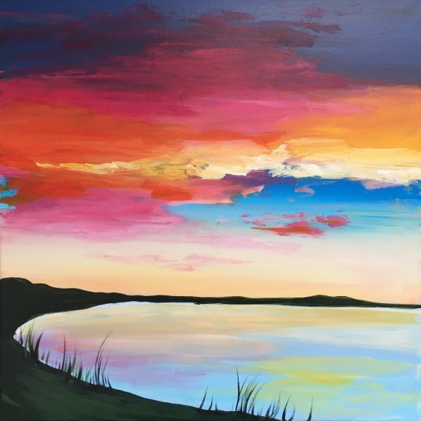 Canvas Painting Class on 03/12 at Muse Paintbar Lynnfield
