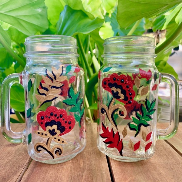 Glassware Painting Event on 11/14 at Muse Paintbar Fairfax (Mosaic)