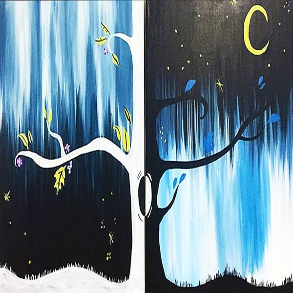 Couple's Paint Night on 03/16 at Muse Paintbar NYC - Tribeca