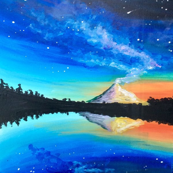 Canvas Painting Class on 10/17 at Muse Paintbar Woodbridge