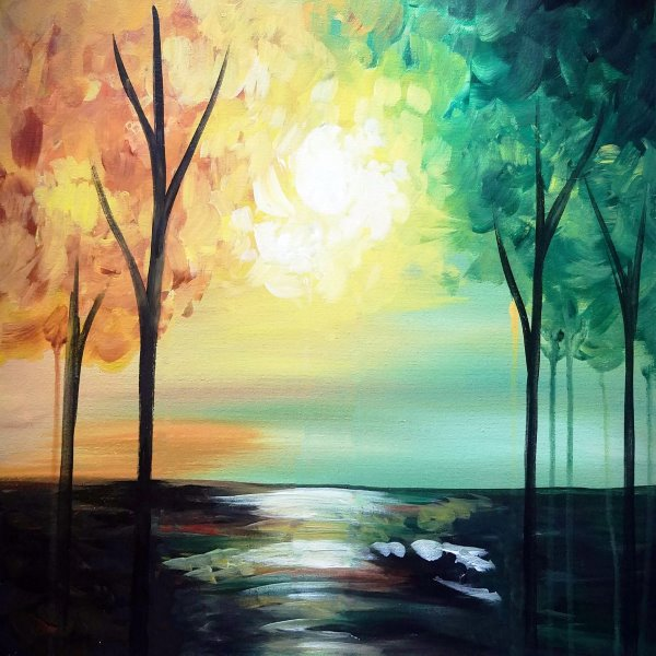 Canvas Painting Class on 09/22 at Muse Paintbar Fairfax (Mosaic)