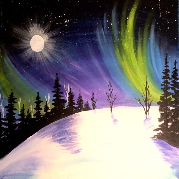Canvas Painting Class on 02/08 at Muse Paintbar Patriot Place