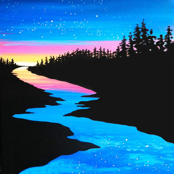 Canvas Painting Class on 07/18 at Muse Paintbar Patriot Place