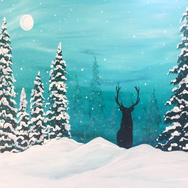 Canvas Painting Class on 01/29 at Muse Paintbar Portland