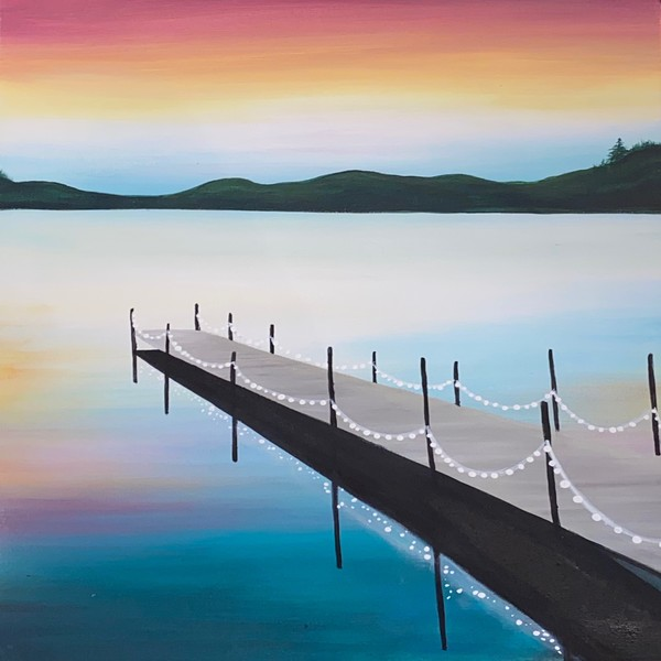 Canvas Painting Class on 10/10 at Muse Paintbar Ridge Hill