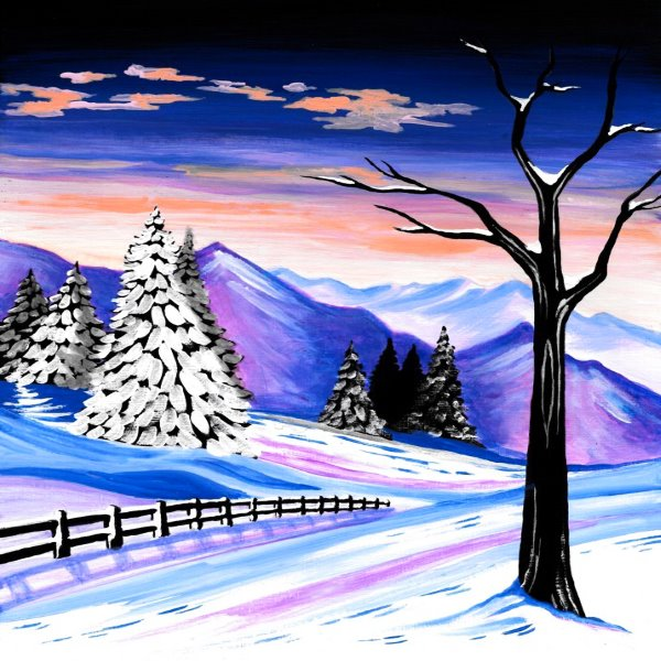 Canvas Painting Class on 12/30 at Muse Paintbar Lynnfield
