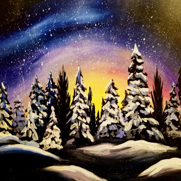 Canvas Painting Class on 01/23 at Muse Paintbar Ridge Hill